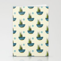 earth Stationery Cards featuring Earth by FLATOWL