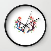 antler Wall Clocks featuring Roses and Antler by Better HOME