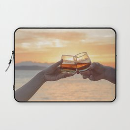 Romantic Evening Toast Laptop Sleeve