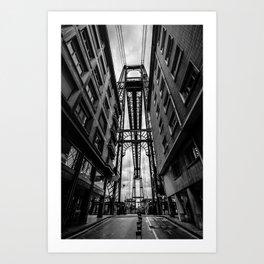 Portugalete suspension bridge Art Print
