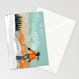 Skier Looking Stationery Cards