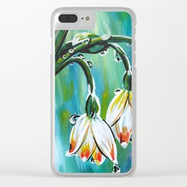 Drips on droopy flowers Clear iPhone Case