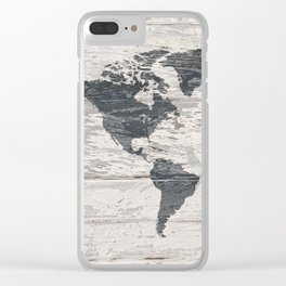 World map 2 Clear iPhone Case
