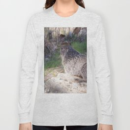 North American Beaver in the Wild, Nature, Animal, Beaver Long Sleeve T-shirt