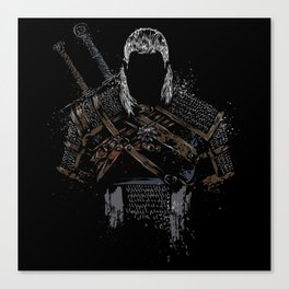 Geralt of Rivia - The Witcher Canvas Print