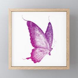 Purple Butterfly Framed Mini Art Print