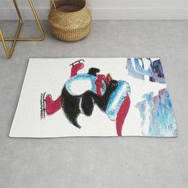 Penguin Skater Rug