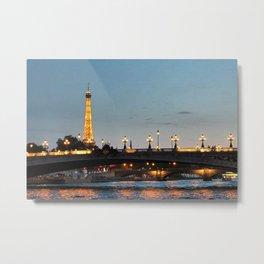 Pont Alexandre III Metal Print