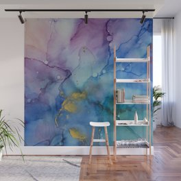Hibiscus Alcohol Ink Painting by Kristen Jasper Fine Art Wall Mural
