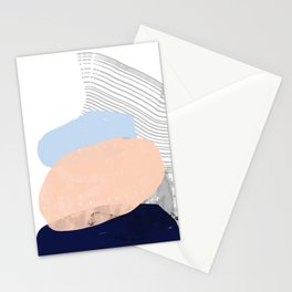 Mid Century Modern Abstract beach Stationery Cards