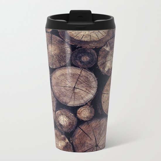 The Wood Holds Many Spirits // You Can Ask Them Now Edit Metal Travel Mug