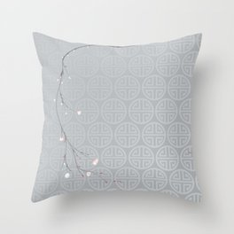 Japanese Blossom Throw Pillow