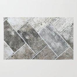Gray tile II Rug