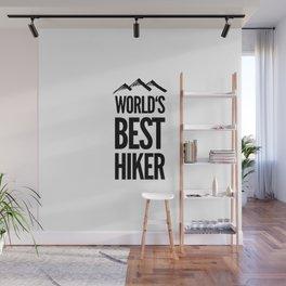 Hiking Hiker Hike mountains gift Wall Mural