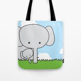 Mommy Elephant Tote Bag