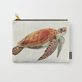 Turtle Watercolor Carry-All Pouch
