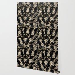 Pear Flower Pattern Wallpaper