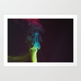 Colored Smoke Abstract Photo Sculpture #2 Art Print