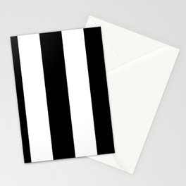 5th Avenue Stripe No. 2 in Black and White Onyx Stationery Cards