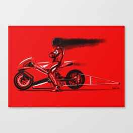 Red hot cool off Canvas Print