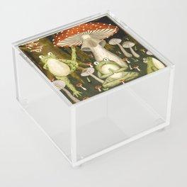 mushroom forest yoga Acrylic Box