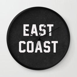 East Coast - black Wall Clock