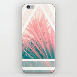 Pastel Palms into Triangle iPhone Skin