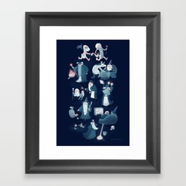 A Shared Flat for Wizards Framed Art Print
