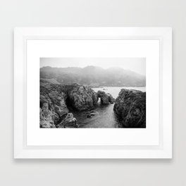 Ocean Arches - Black and White Landscape Photography Framed Art Print