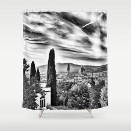 View of Firenze Duomo Shower Curtain