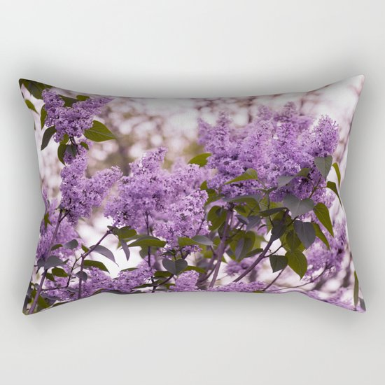 Purple lilacs Rectangular Pillow