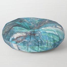 Siena turchese - blue marble Floor Pillow