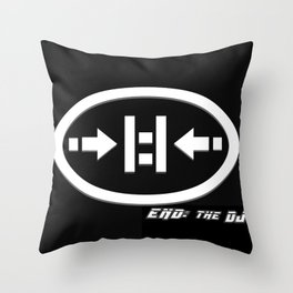 END: the DJ Logo Throw Pillow