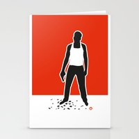 die hard Stationery Cards featuring DIE HARD by Alain Bossuyt