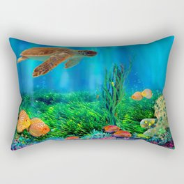 UnderSea with Turtle Rectangular Pillow