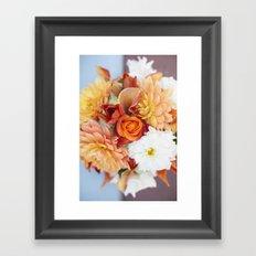 orange, yellow and white flowers Framed Art Print