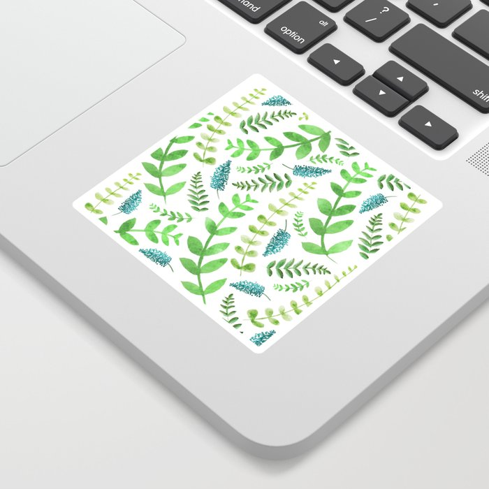 Greenery Leaves Pattern Sticker