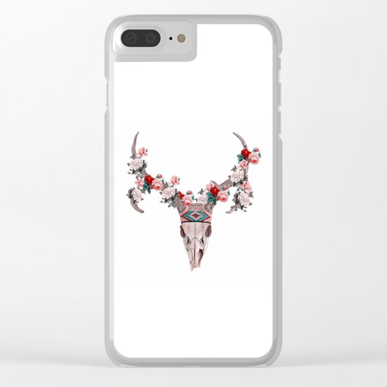 ANIMAL SKULL Clear iPhone Case