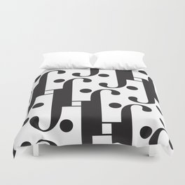 """Musical - The Didot """"j"""" Project Duvet Cover"""