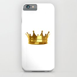 Royal Shining Golden Crown for King or Queen iPhone Case