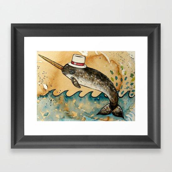 Mr. Narwhal Framed Art Print