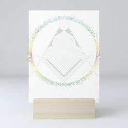 Illuminati Symbol Masonic Triangle Conspiracy G Gift Mini Art Print