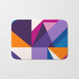 Abstract modern geometric background. Composition 5 Bath Mat