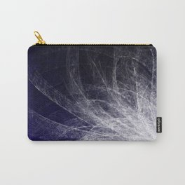 Cyan Texture Feathers Carry-All Pouch