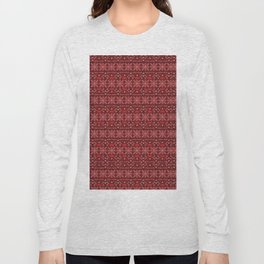 Antiallergenic Hand Knitted Red Winter Wool Pattern -Mix & Match with Simplicty of life Long Sleeve T-shirt