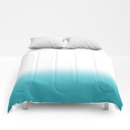 Dip Dye Teal Comforters