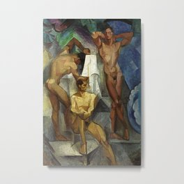 Young Bathers by George Pauli Nude Male Art Metal Print