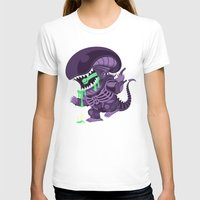 xenomorph T-shirts featuring Cute Xenomorph by nocturnallygeekyme