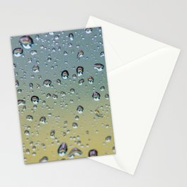 # Car wash in the # raindrops #pattern it # is reflected in the beautiful #yellow #car in the #drops Stationery Cards