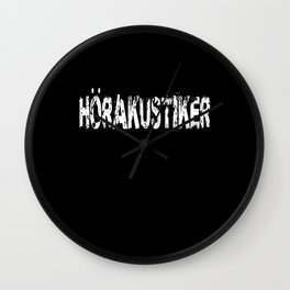 hearing aid acoustician lovers gift idea design Wall Clock
